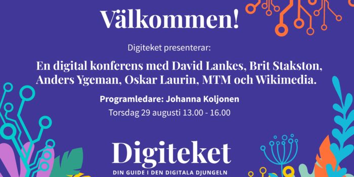 Digitekets släppkonferens