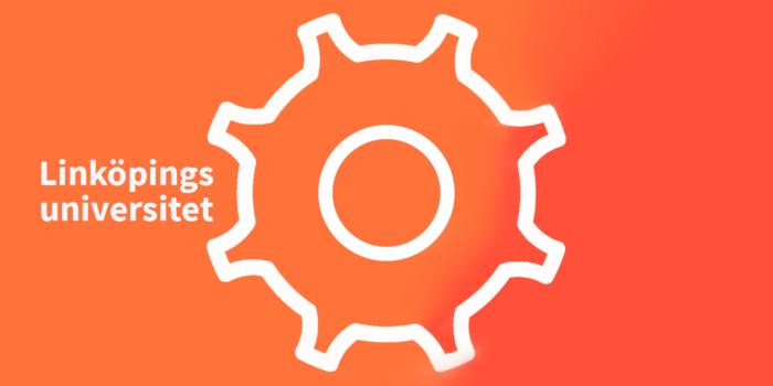 grafik med symbol för kugghjul och texten Linköpings univeristet