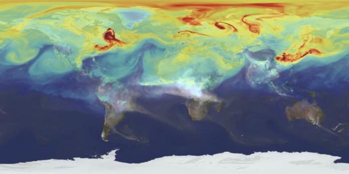 världskarta med värmezoner