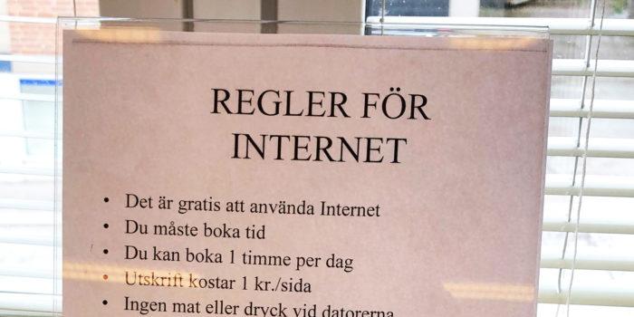 Internetanvändning på bibliotek – policy, praktik och pedagogik
