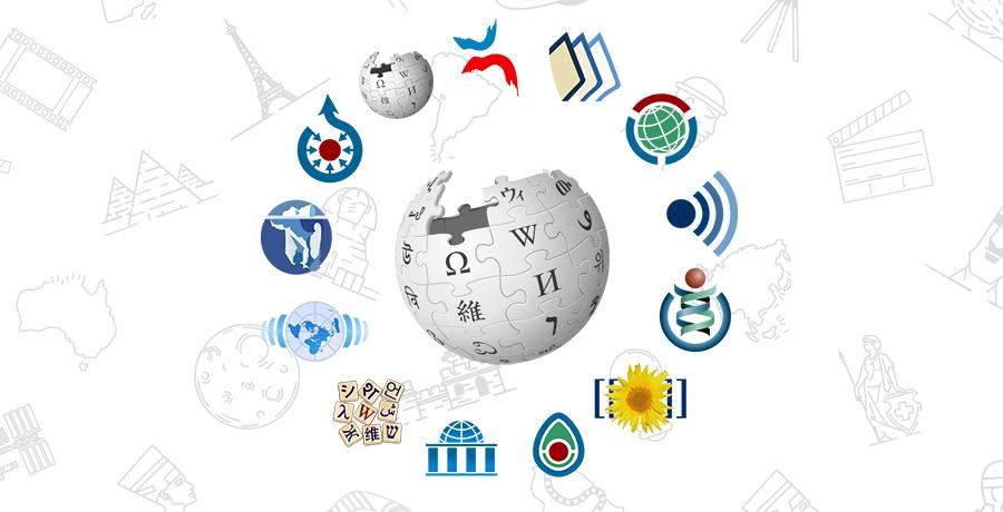 bild på wikipedias logga om given av loggor för olika samarbetsverktyg