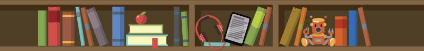 bokhyllelogga för barnens bibliotek