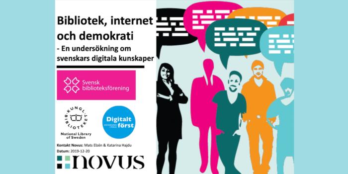 Bibliotek, internet och demokrati: vad vet och tycker allmänheten?