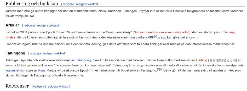 Den svenska wikipediasidan för Epoch Times: https://sv.wikipedia.org/wiki/Epoch_Times