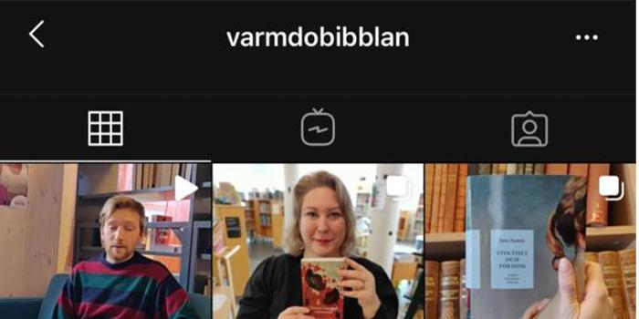 Läsfrämjande på digitala kanaler med Värmdö bibliotek