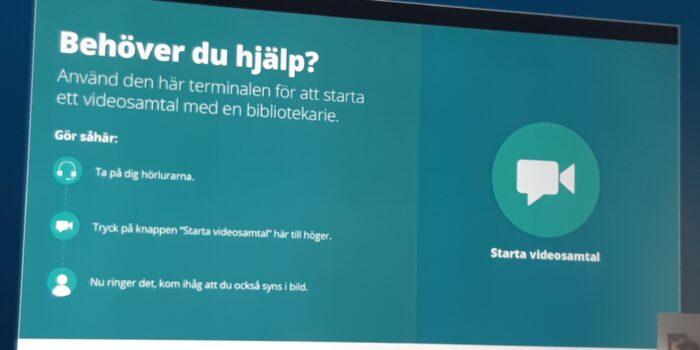 Bibliotekarie on demand-nya digitala metoder för meröppet i Skellefteå