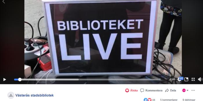 Biblioteket-Live! Nya sätt att ge programverksamhet i Västerås