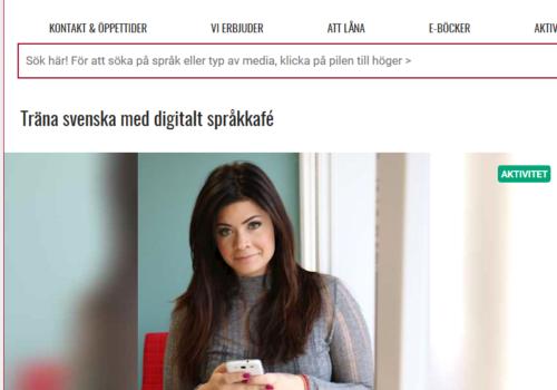 Digitala språkkaféer möter stort gensvar