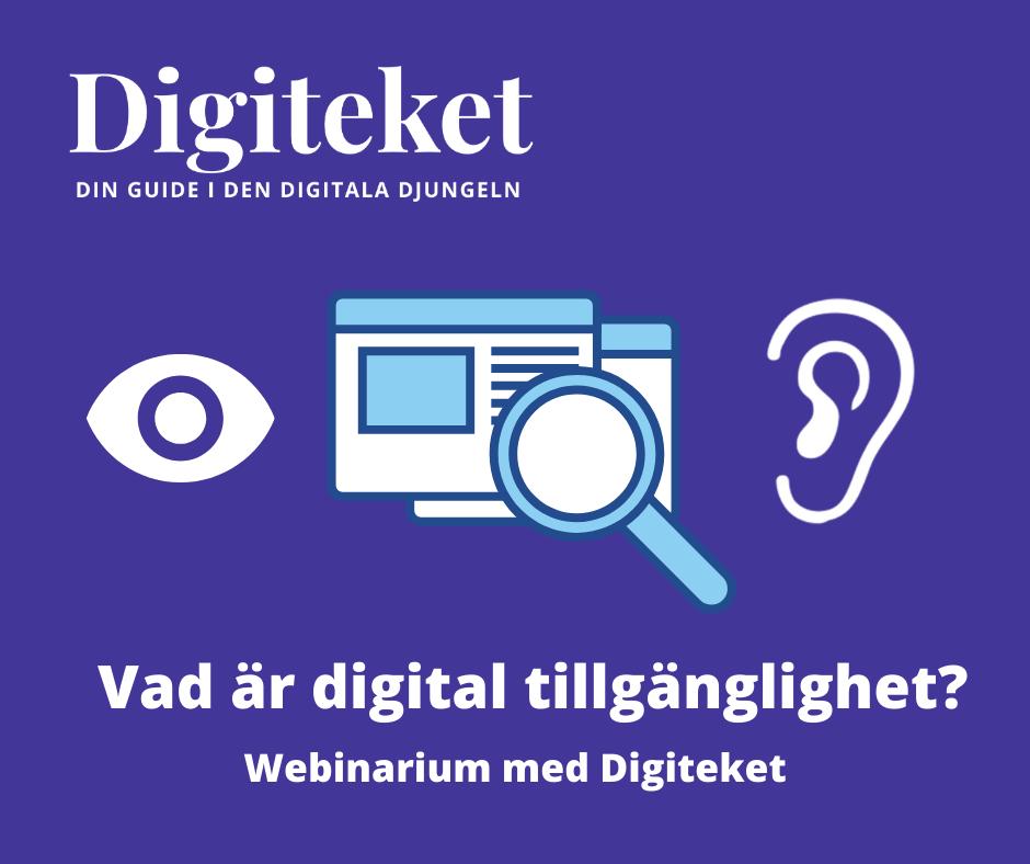 Digiteket: Vad är digital tillgänglighet? - Webbinarium med Digiteket