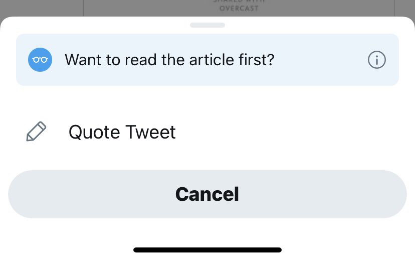 Twitter prompt: Want to read the article first?