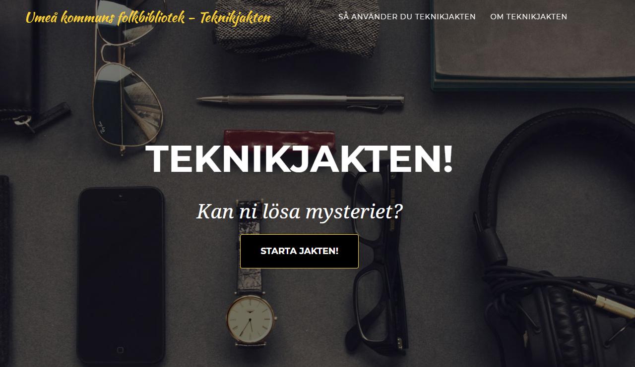 Webbsida: Teknikjakten, Kan ni lösa mysteriet?