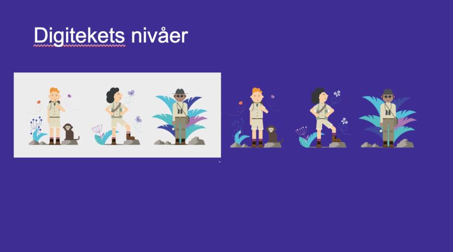 Grafisk element men transparent bakgrund smälter in i presentationen