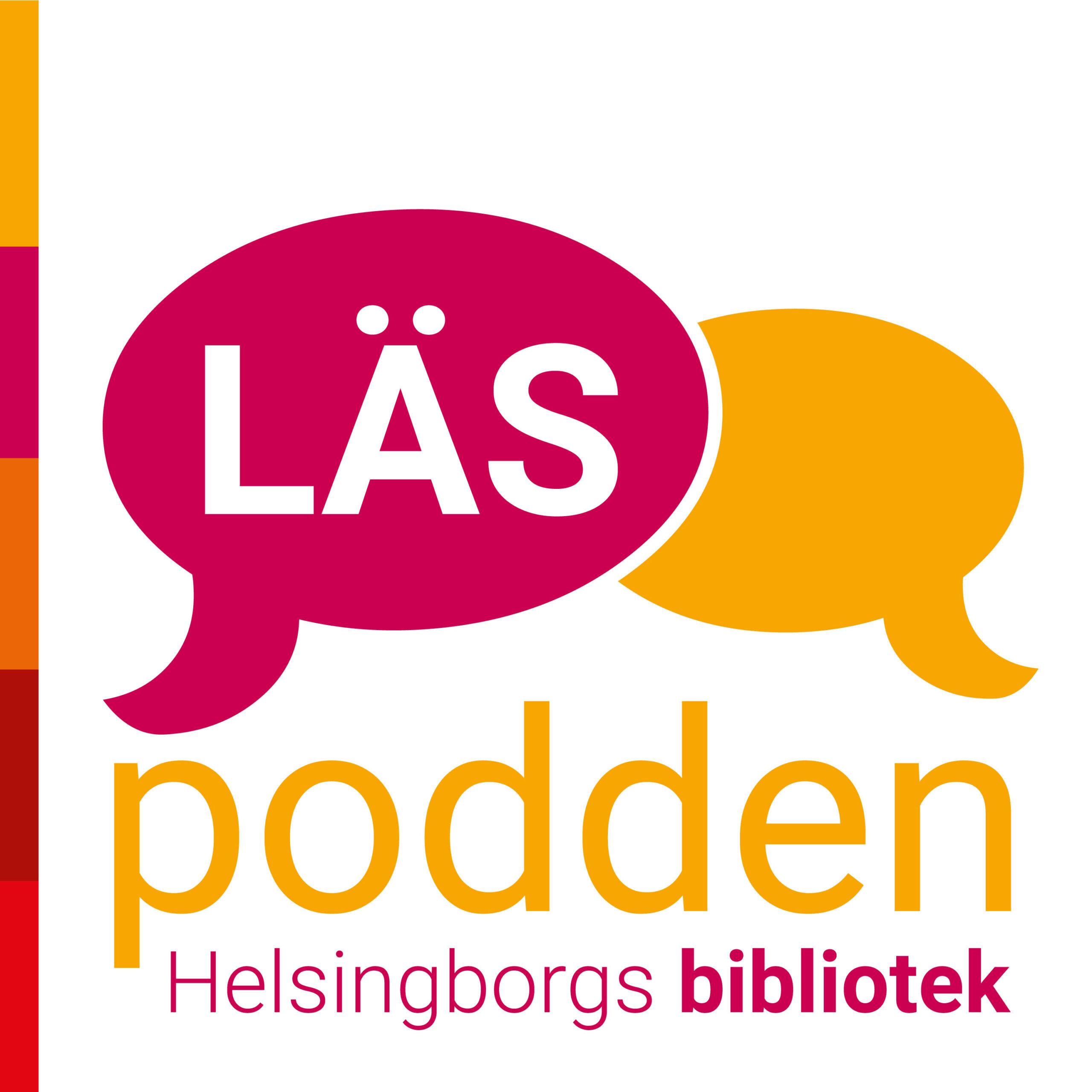 LÄSpoddens logotyp: Två pratbubblor.