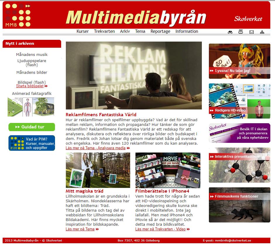 Skärmdump: Reklamfilmens fantastiska värld, Filmberättelse i iPhone4.